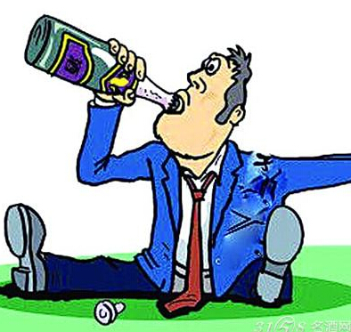 人物饮酒图矢量图